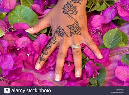 marokko marrakesch kaiserstadt henna tattoo auf der hand