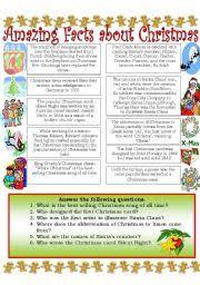 english exercises christmas is coming