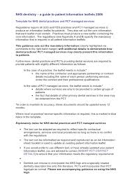 Patient Information Sheet Template The Patient Information Leaflet Template