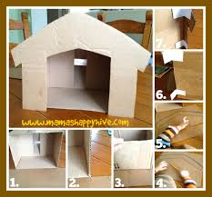 cardboard nativity stable tutorial s happy hive