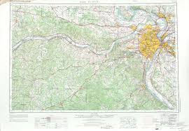 United States Topographical Map by Saint Louis Topographic Map Sheet United States 1969 Full Size