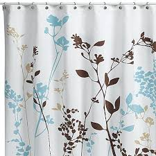 Bed And Bath Curtains Stunning Ideas Floral Fabric Shower Curtains Reflections Curtain