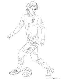 david luiz soccer coloring pages printable
