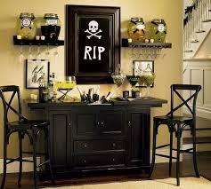 decorating home for halloween furniture indoor halloween decoration with black barstool skull
