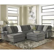 Sectional With Ottoman Loric 4 Sectional And Ottoman In Smoke Nebraska Furniture Mart