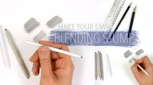 How To Build A Stump by How To Make Your Own Blending Stump To Blend Smudge The Graphite