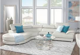 White Living Room Set Sofia Vergara Cassinella 5 Pc Sectional Living Room Living