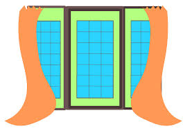 window with curtains clip art at clker com vector clip art