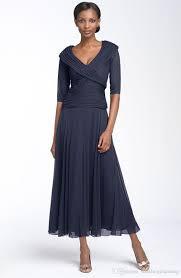custom made mother of the bride dress cheap elegant v neck