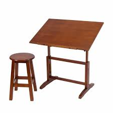 Drafting Table Stools by Adjustable Drafting Table Artist Drawing Art Architect Wood Desk