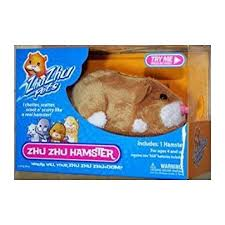 amazon zhu zhu pets hamster squiggles light brown toys