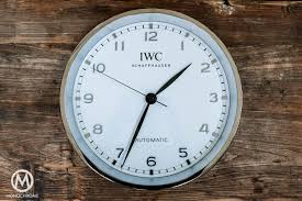 give away another iwc wall clock monochrome watches