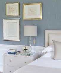 Light Blue Grey Bedroom Blue And Grey Bedrooms With Wainscoting Transitional Bedroom