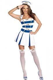 Halloween Costumes Sailor Moon White Stripy Sailor Halloween Costume Sailor Costume Women