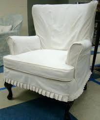 slipcover wing chair wingback chair slipcover white wing chair slipcover arm white denim