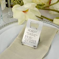 wedding bottle openers engraved wedding credit card bottle opener personalized favors