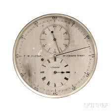 f w clerke astronomical regulator sale number 2804m lot number