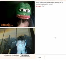 Omegle Meme - omegle com mouse over for options take snapshot you re now chatting