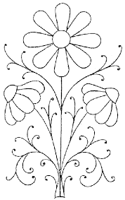 Flower Designs For Embroidery Embroidery Pattern Pretty Daisies Embroidery Patterns And Free
