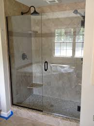 bathroom interesting frameless shower doors for bathroom frameless shower doors with black handle matched with tan wall plus black shower fauce