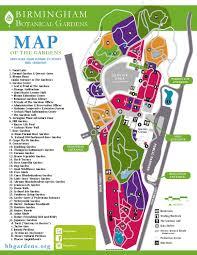 Botanical Garden Birmingham Map Of Birmingham Botanical Gardens 2016 By Birmingham Botanical
