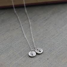 double necklace silver images Double initial sterling silver necklace silver letter pendant jpg