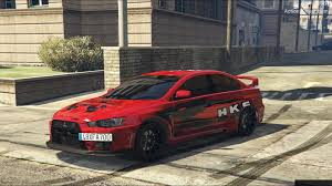 mitsubishi evolution 10 mitsubishi lancer evolution x hks paintjob gta5 mods com