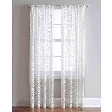 Window Curtains At Walmart Lyric Rod Pocket Sheer Curtain Panel Walmart Com