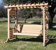Swing Pergola by Colonial Style Arbor Swing