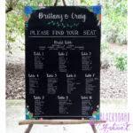 Chalkboard Wedding Program Weddings Blackboard Artworx