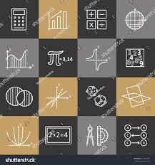 modern color thin line concept mathematics stock vector 511342393