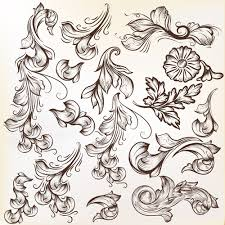 floral swirl ornament design vector free vector in adobe