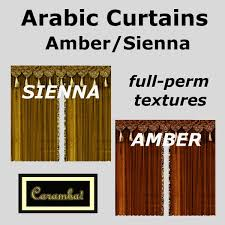 Arabic Curtains Second Life Marketplace Arabic Curtains Amber Sienna Texture