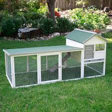 Rabbit Hutches And Runs Boomer U0026 George White Wash Outdoor Rabbit Hutch With Extended Run