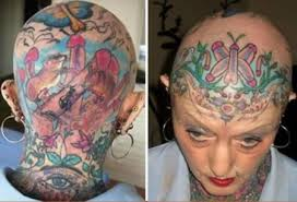 12 most extreme scalp tattoos in women scalp tattoos in women