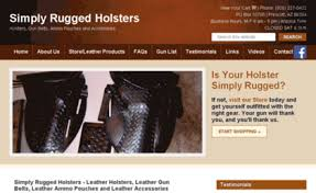 Simply Rugged Simplyrugged Com Website Simply Rugged Holsters Leather