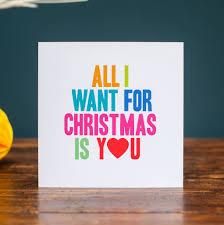 all i want for christmas is you christmas card christmas lights