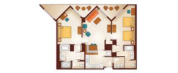Two Bedroom Floor Plan Aulani Two Bedroom Villa Milesgeek Milesgeek