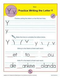 letter y worksheets printable handwriting worksheet