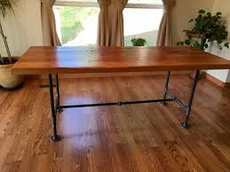 wood and pipe table reclaimed wood and pipe table industrial table black iron