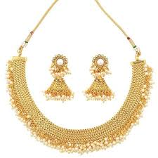 copper necklace set images Chandni faux pearls bridal jewellery copper necklace set at rs jpg