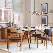 Mid Century Dining Table And Chairs Mid Century Buffet 57 West Elm