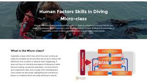 communications class online human factors skills in diving micro class