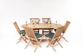 Teak Garden Benches La Baule Teak Dining Set Garden Furniture Humber Imports
