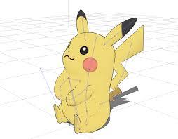 sitting pikachu pokémon by mivia thingiverse