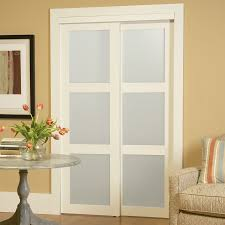 Frosted Glass Sliding Barn Door by Shop Masonite Solid Core 4 Lite Frosted Barn Interior Door Common