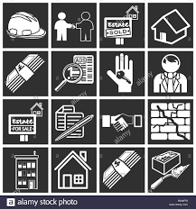 icons or design elements related to home house buying real