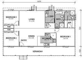 Minimalist Floor Plan 3 Bedroom Floor Plan 14m X 7m 100sqm Small And Minimalist