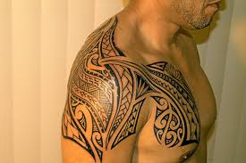 shoulder and chest tattoos polynesian shoulder and chest tattoos
