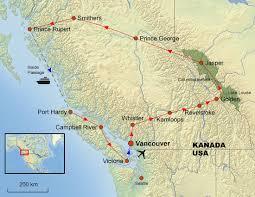 Canadian Rockies Map Reisebüro Menziken Ag